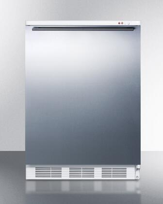 "Summit VT65MBISSHX 24"" Medical Use Freezer with 3.5 cu. ft. Capacity, Adjustable Thermostat, Three Removable Storage Baskets, -25 Degrees C Capable, and Manual Defrost in Stainless Steel: X Hinge"