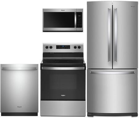 Whirlpool 991662 4 Piece Fingerprint Resistant Stainless Steel Kitchen Appliances Package