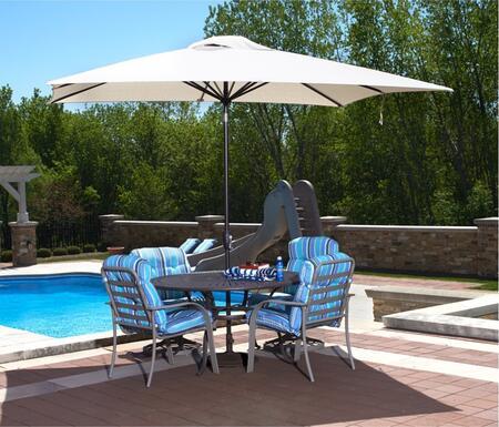Blue Wave NU5433 Adriatic 6.5x10' Rectangular Auto Tilt Market Umbrella with an 6-Rib Canopy, Single Wind Vent, Super Strong Aluminum Pole and Crank: