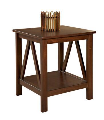 Linon 86153ATOB01KDU Titian Series Contemporary Rectangular End Table