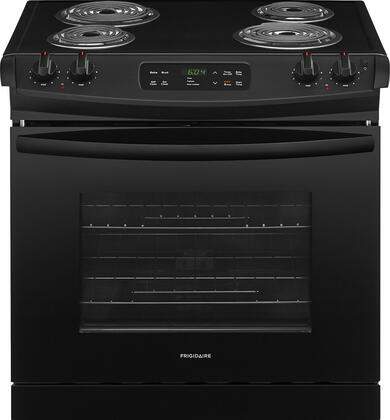 """Frigidaire FFED3016Tx 30"""" ADA Compliant Drop In Electric Range with 4.6 cu. ft. Capacity, 4 Coil Elements, Self-Clean Function, 2 Racks, and Auto Oven Shut-Off, in"""