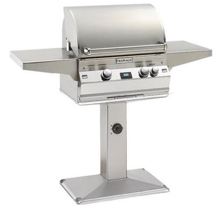 FireMagic A430S1A1NP6 Post Mount Grill, in Stainless Steel