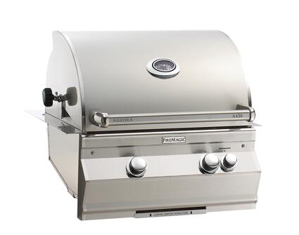 "FireMagic A430I6E1X Aurora 30"" Built-In Grill with E-Burners, Rotisserie, Back Burner, and Digital Thermometer"