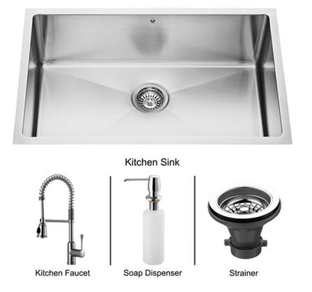 Vigo VG15105 Sink / Faucet Combos, Undermount Sinks Sink