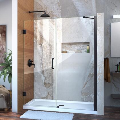 Unidoor Shower Door with Base 12 28D 30P support arm 09 72 WM 11 16