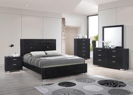 Myco Furniture Brahma 5 Piece King Size Bedroom Set