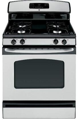 GE JGBS23SETSS  Gas Freestanding Range with Sealed Burner Cooktop, 4.8 cu. ft. Primary Oven Capacity, Storage in Stainless Steel