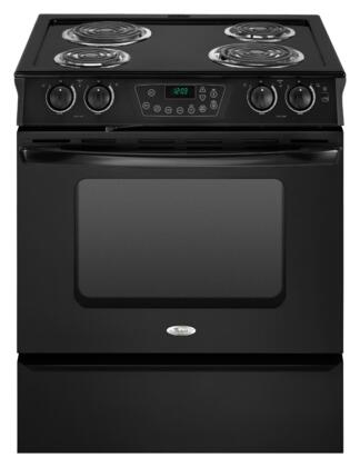 "Whirlpool RY160LXTB 30"" Slide-in Electric Range with Coil Cooktop Storage 4.3 cu. ft. Primary Oven Capacity"