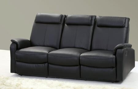 Chintaly AKRONSFA Akron Series Reclining Bonded Leather Sofa