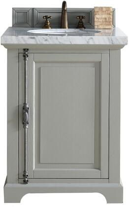 "James Martin Providence Collection 238-105-V26-UGR- 26"" Urban Gray Single Vanity with Plantation Style Hardware, One Soft Close Door and"