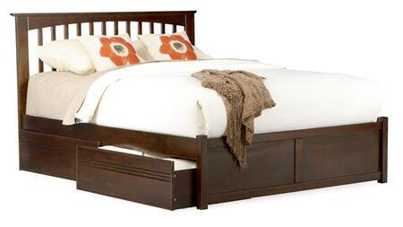 Atlantic Furniture BROOKLYNFPFQUEENAW Brooklyn Series  Queen Size Bed