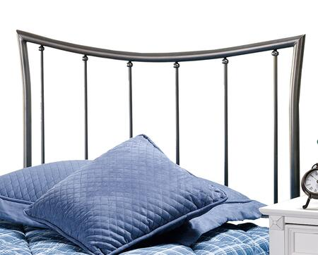 Hillsdale Furniture 1333HR Edgewood Open-Frame Headboard with Rails Included and Tubular Steel Construction in Magnesium Pewter Finish