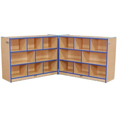 Mahar M70900 Single Sided Hinged Storage Units with Hasp, 2 Piece Set in Maple Finish with Edge Color (Youth)