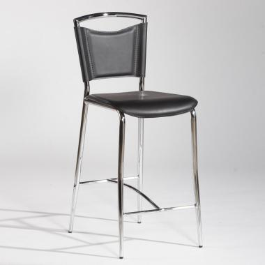 Chintaly GWEN Bar Stool Finish in Black/Chrome