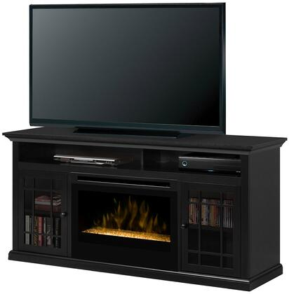 Dimplex GDS25-1388 Hazelwood Fireplace Media Console, with Realistic Flame Technology, Optional Heat Emission, Cool Glass Front, and Remote Control, in Espresso