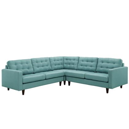 Modway EEI1417LAG Empress Series Stationary Fabric Sofa