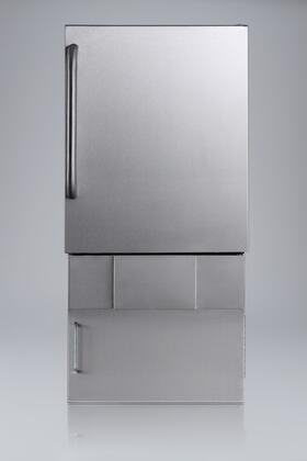 Summit BIM24OSBASE34  Stainless Steel Freestanding and Built-In Ice Maker with 10 lbs. Daily Ice Production, 1.0 Ice Storage