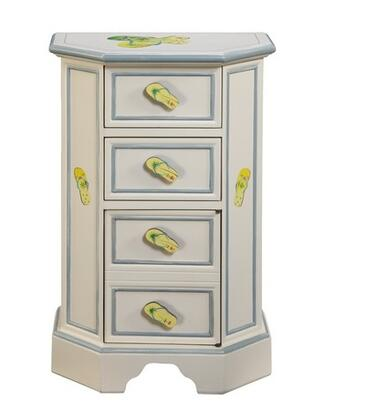 Gail's Accents 40001CH Shoreline Series Traditional Rectangular 4 Drawers End Table