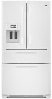 Maytag MFX2571XEW  French Door Refrigerator with 25 cu. ft. Total Capacity 4 Glass Shelves