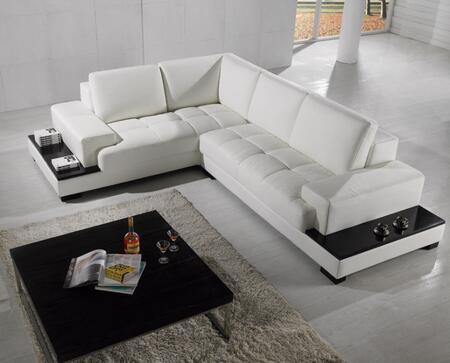 VIG Furniture VGYIT71 Divani Casa Series Stationary Leather Sofa