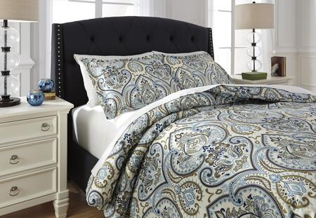 Milo Italia Carolann Collection C2570TMP 3 PC Size Duvet Cover Set includes 1 Duvet Cover and 2 Standard Shams with Medallion Printed Design, 220 Thread Count and Cotton Material in Multi Color