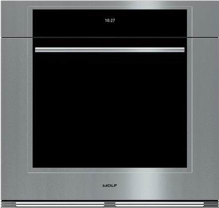 """Wolf SOXXTM/S/TH XX"""" M Series X Built-In Single Oven with X cu. ft. Capacity, Convection System, 10 Cooking Modes, Gourmet Mode, and 3 Halogen Lights, in Stainless Steel"""