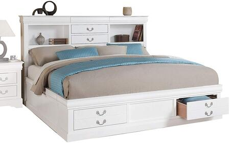 Acme Furniture 24487EK Louis Philippe III Series  King Size Storage Bed