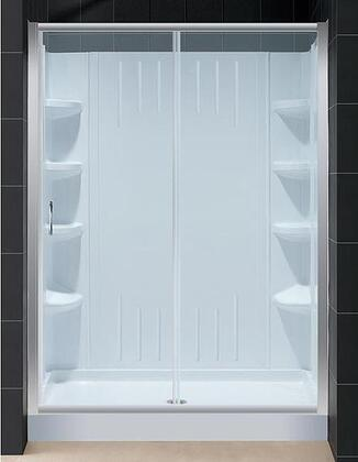 "DreamLine DL-6104 Infinity Shower Door With Clear Glass 60"" x 72"", 32"" x 60"" Shower Base, Backwall, Sliding Door Design, Fiberglass Reinforcement &"