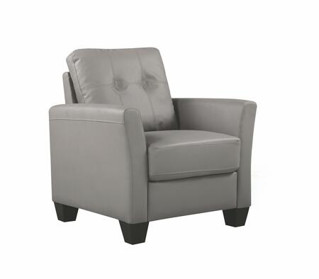 Glory Furniture G569C G570 Series Faux Leather Armchair in Grey