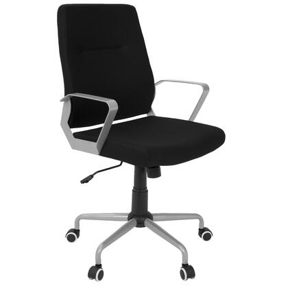 """LumiSource Zip OFC-ZIP 38"""" - 41"""" Office Chair with Fabric Upholstery, 5-Star Casters and Adjustable Height in"""