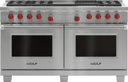 wolf df606cg 60 inch stainless steel dual fuel freestanding range rh appliancesconnection com
