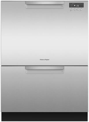 "Fisher Paykel DD24Dxx 24"" Double DishDrawer Dishwasher with 14 Place Settings, SmartDrive TM Technology, 2 Cutlery Baskets and Built-In Water Softener, in"