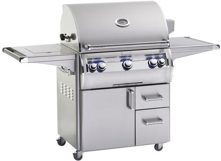FireMagic E660S4EAX62 Echelon Diamond Series Freestanding Gas Grill with 660 sq. in. Cooking Area, 3 Burners, Analog Thermometer, Single Side Burner, in Stainless Steel