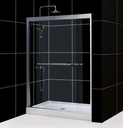 "DreamLine DL-6127 Duet Sliding Shower Door With 60"" x 72"" Clear Glass, Amazon 32"" x 60"" Shower Base, 2-Panel Sliding Doors, Slip-Resistant Textured Floor &"