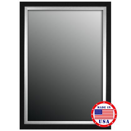 Hitchcock Butterfield 80750X 2nd Look Natural Ebony Black/Silver Trim Framed Wall Mirror