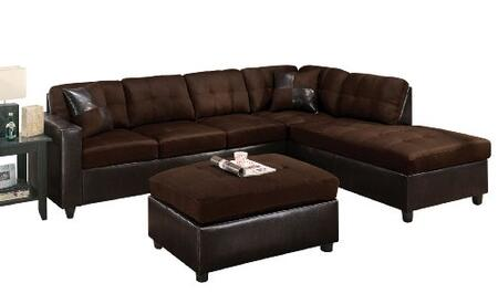 Acme Furniture 101003 Milano Series Sectional Chocolate Sofa