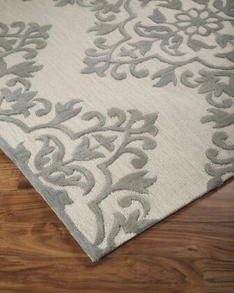 "Signature Design by Ashley Bafferts R40044 "" x "" Size Rug with Abstract Design, Hand-Tufted, 15mm Pile Height and Wool Backed with Cotton Material in Tan and Grey Color"