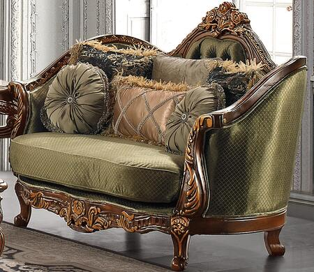 Homey Design HD1630L Fabric Stationary with Wood Frame Loveseat