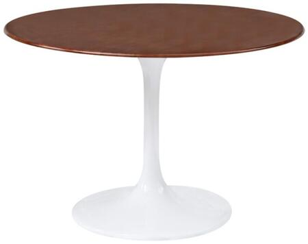 Fine Mod Imports FMI1005X-WALNUT Flower Table Wood Top In Walnut