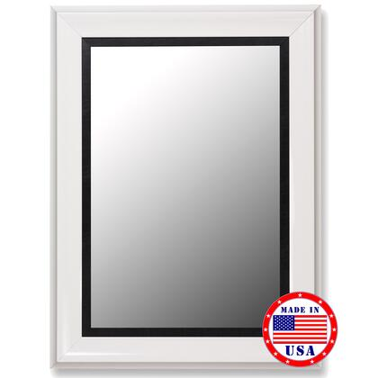 Hitchcock Butterfield 20700X Cameo Grande Mirror in Glossy White with Executive Black Liner