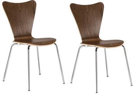 EdgeMod EM183WALX2 Elgin Series Modern Metal Frame Dining Room Chair