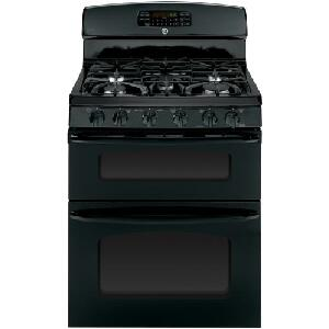 "GE JGB870DET 30"" Freestanding Gas Range with 5 Sealed Burners, 6.7 cu. ft., Self-Clean Convection Double Oven, Delay Bake and Auto Shut-Off in XXX"