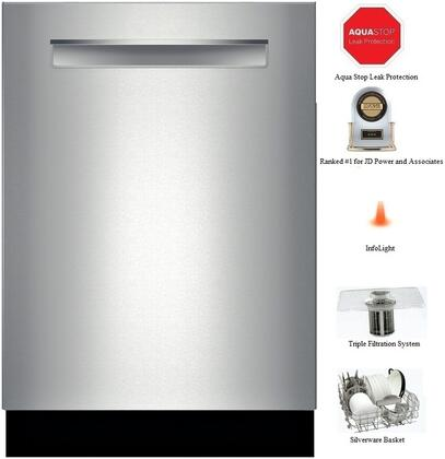 "Bosch SHP53T55UC 24"" 300 Series Built In Fully Integrated Dishwasher with 15 Place Settings Place Settingin Stainless Steel"