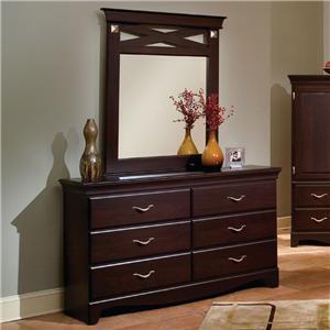 Standard Furniture 7669A City Crossings Series Wood Dresser
