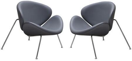 Diamond Sofa ROXYCHVGR2PK Roxy Series Armless Metal Frame Accent Chair