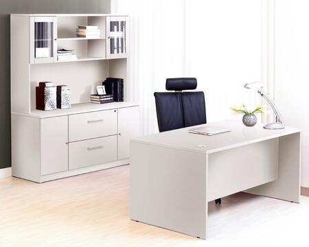 Unique Furniture 1C100009M Executive Office Desk with Credenza