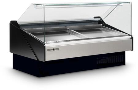 Hydra-Kool KFMSFxS Seafood Case with Ice Pans with Cu. Ft. Capacity, HP, Designed for Seafood, in Black