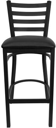 "Flash Furniture HERCULES Series XU-DG697BLAD-BAR-XXV-GG 31"" Heavy Duty Ladder Back Metal Restaurant Bar Stool with Commercial Design, Vinyl Seat, Foot Rest Rung, and Plastic Floor Glides"