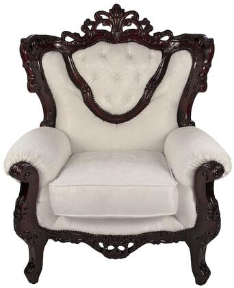 J. Horn 702WHITEC 702 Series Fabric Armchair with Wood Frame