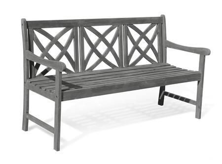 Vifah V1615F Eco-Friendly 5-Foot Outdoor Garden Bench